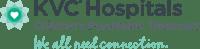 KVC Hospitals Logo and Tagline - H-1